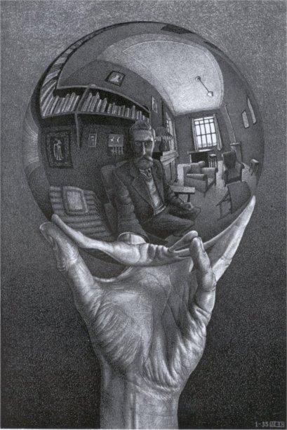 Litografia de M.C. Escher (1898-1972), artista gráfico holandês.