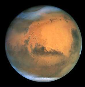 Marte Visto no Telescópio Espacial Hubble de 2 bilhões de dólares